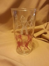 Vintage Collectible Jelly Glass Child Cowboys and Horses Late 1950's - $8.00