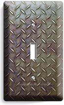 INDUSTRIAL DIAMOND METAL RUST SINGLE LIGHT SWITCH WALL PLATE MAN CAVE HO... - $9.99