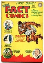Real Fact Comics #1 1946 DC PARACHUTE cover HOUDINI FN/VF - $363.75