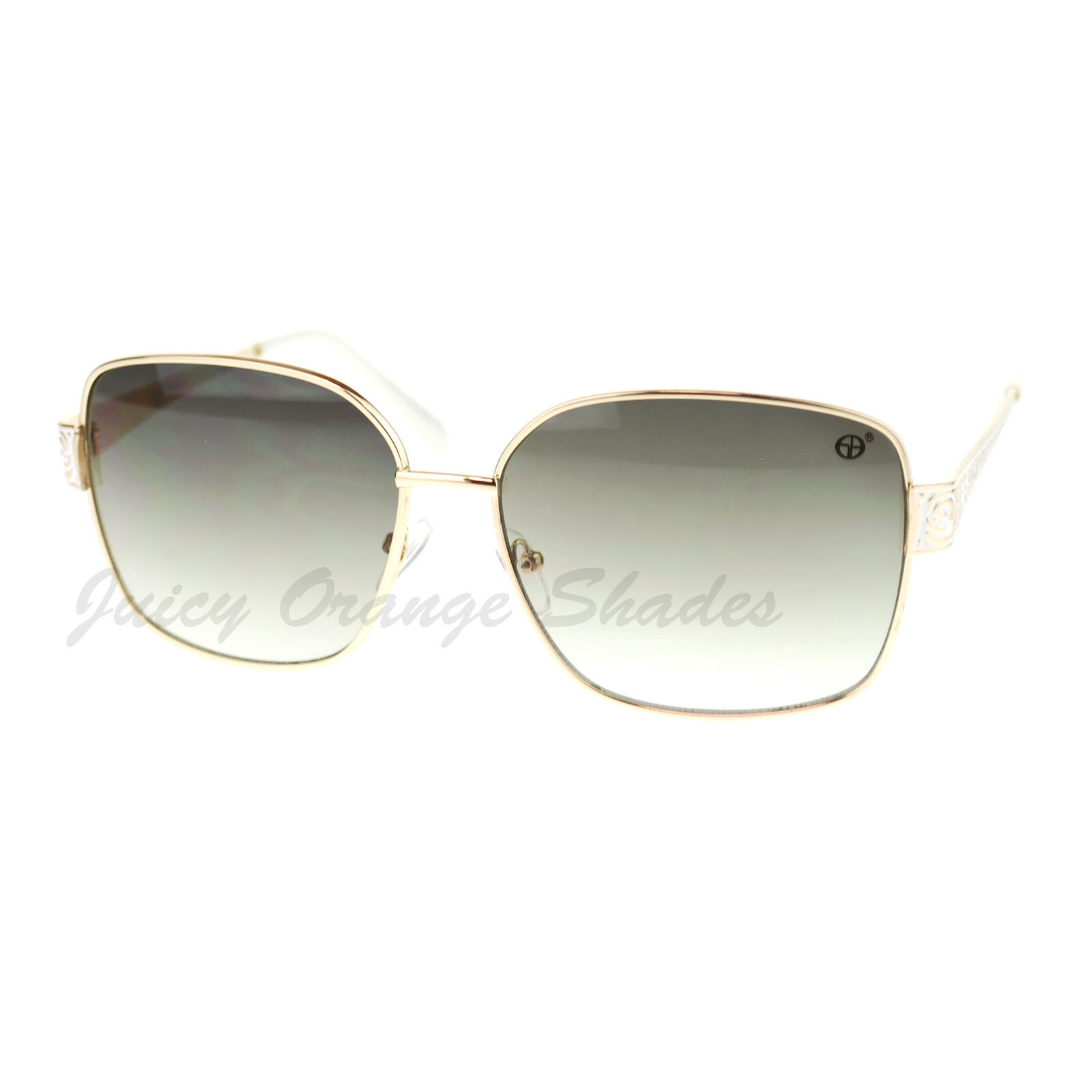 Womens Square Metal Frame Sunglasses Chic Stylish Fashion