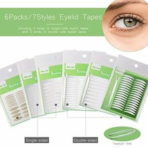 1456Pcs/6Packs/7Styles Eyelid Tapes Invisible Single/Double-Sided Sticky... - $10.99