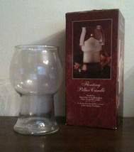 Beautiful Indiana Glass Floating Pillar Clear Glass Candle Holder w/ Box - $11.87