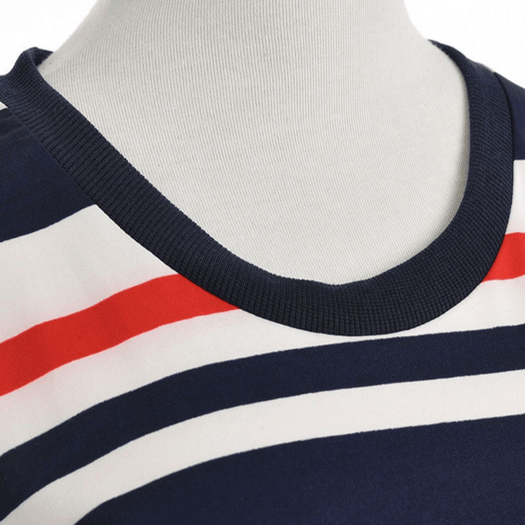 Fashion Blue Stripe Cotton Women  Dress