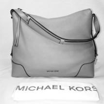 Michael Kors Crosby Large Shoulder Handbag Pearl Grey Leather 30H8SCBL3L... - $153.45