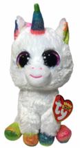 """NEW Ty Pixy White Unicorn Beanie Boos Rainbow Sparkle Eyes 6"""" NWT - $17.95"""
