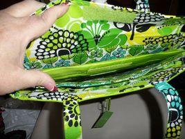 Vera Bradley laptop TRavel Tote In Lime's Up  image 3