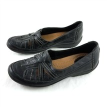 Clarks Artisan Black Leather Loafers Flats Slip On Casual Shoes Womens 7... - $29.60