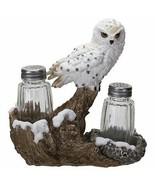 Snowy Owl Perching On Tree Branch Spiritual Realistic Decorative Glass S... - £18.54 GBP