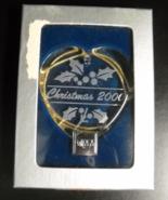 Mikasa Christmas Ornament 2000 Christmas Heart Gold Cord Hanger Original... - $12.99
