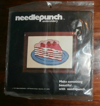 "Strawberry Torte Needlepunch Embroidery Kit Unopened 5"" x 7"" - $5.94"
