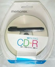 2 MEMOREX CD-R 52X 700MB 80 Min Recordable PACKS + 2 BONUS CD Markers= 2... - $17.81