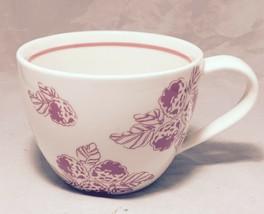 Starbucks coffee 2007 White & Pink Raspberries 13 Oz. porcelain cappuccino cup - $8.86