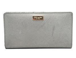 Kate Spade New York Womens Leather Wallet Purse Silver - $70.19