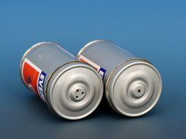Vintage Novelty Salt & Pepper Shaker Set Hong Hong Metal EVEREADY Batteries image 3