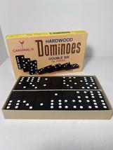 Vintage Cardinal's Hardwood Double 6 Dominoes 28 Pieces No. 556 - $12.00