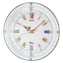 Disney Series Alice in Wonderland White Pearl Wall Clock Adult SEIKO New - $314.88