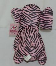 Baby Ganz Brand BG3192 Pink Black Zebra Print Ooh La La Plush Elephant image 4