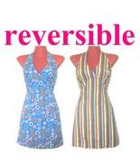 1990s vintage reversible halter dress size xs 4 - $50.00