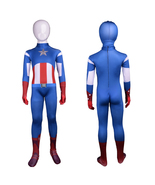 Captain America Cosplay Costume Superhero Full Body Suit Tight Party - $37.65