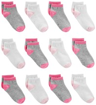 Simple Joys by Carter's Baby Girls' 12-Pack Socks, Pink/Gray/White, 6-12 Months - $27.29