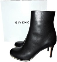 Givenchy Black Leather Ankle Booties Gold Trim Boots 36.5- 6.5  - $420.00
