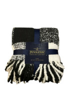 Pendleton Rob Roy Super Soft Throw Blanket 50 x 70 Plaid Ivory Black NEW - $74.25