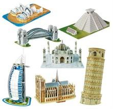 3D Paper Puzzle Learning for Childrens Miniature Eiffel Tower Bridge Gre... - $9.49