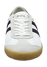 9 Navy Specialist Mens White Trainers UK White Leather Gum Gola pq8PYn7x7R