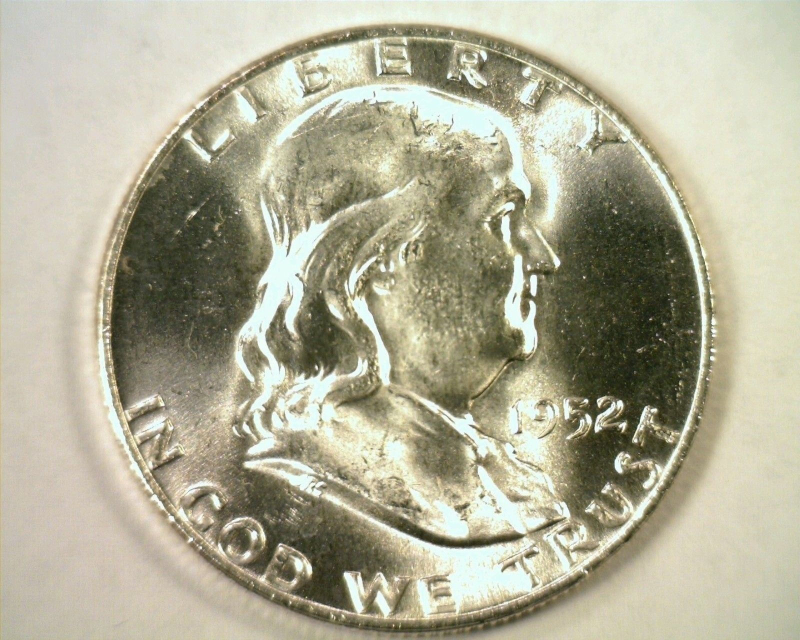 Primary image for 1952-D FRANKLIN HALF CHOICE UNCIRCULATED+ FULL BELL LINES CH UNC.+ FBL ORIGINAL