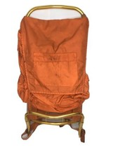 "Unbranded External Frame Camping/Hiking Backpack Orange 34""x15"" Lots of ... - $49.49"