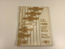 1986 Chevrolet Light Duty Truck Wiring Diagrams 10-30 Series ST-330-86 WD - $24.99