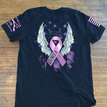 Grunt Style Tee Shirt - F@ck Cancer Large Black T-shirt Used - $13.06
