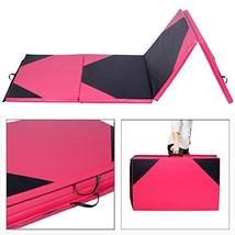 4'x10'x2 Gymnastics Mat Thick Folding Panel For Gym Fitness with Hook & ... - $139.99