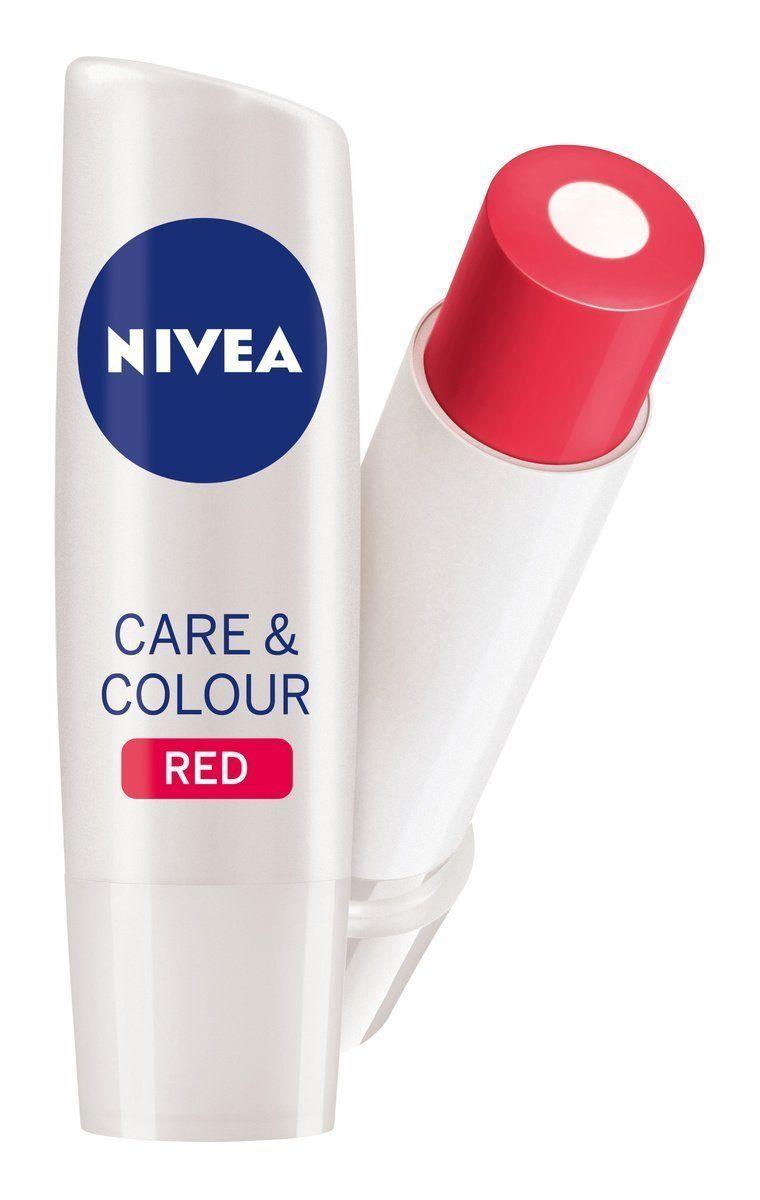 Nivea Care & Color Red Caring Lip Balm 4.8 gm Long Lasting Moisturiser Free Ship