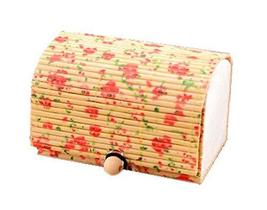 PANDA SUPERSTORE 5 Pieces of The Small Floral Treasure Chest Pattern Bamboo Curt