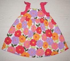 Gymboree Girls Pink, Orange, and Purple Spring Summer Floral Dress 18-24... - $14.01