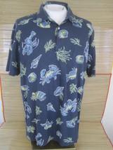 IZOD SALTWATER Relaxed Classics men Hawaiian ALOHA shirt L pit to pit 25... - $14.69