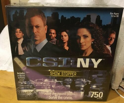 Primary image for CSI NY NEW YORK Puzzle 750 Pieces Sealed DROP DEADLINE Murder Mystery NIB