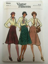 Vogue Sewing Pattern 9045 Waist 28 Skirt Fit and Flared Bias Retro 1970s... - $12.74