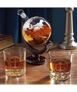 Naval Anchor Globe Decanter Set with Personalized Navy Gifts - $69.95