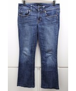 J2776 Juniors AMERICAN EAGLE Blue Denim Stretch ORIGINAL BOOT Cut JEANS 6 - $17.35
