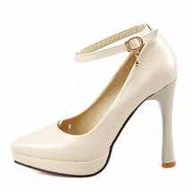 Super Pumps High Size 2018 Women Autumn BONJOMARISA Sexy New Heels Platform Big qCIXn8wW