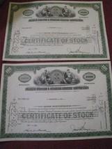 vintage 1966 stock certificates pair AMERICAN RADIATOR & STANDARD SANITA... - $10.86