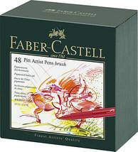 FABER-CASTELL Pitt Artist Pen Gift Box of 48 Colours BNIB - $127.30