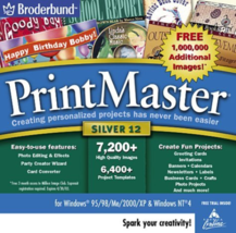 Printmaster Silver 12.0 (Jewel Case) [CD-ROM] Windows 98 / Windows 2000 ... - $15.75