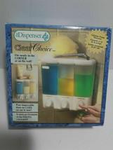 The Dispenser Clear Choice 3-Chamber Shower Organizer Shampoo Soap NEW U... - $16.82