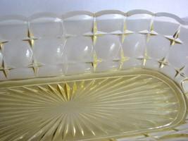Relish Tiara Indiana Glass Constellation Yellow Bowl - $32.00