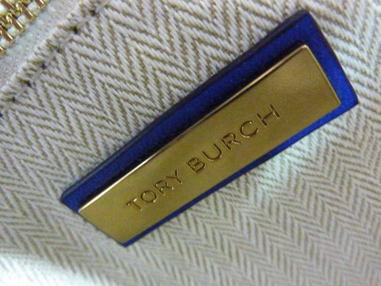 NWT Tory Burch Nautical Blue Kira Chevron Convertible Shoulder Bag image 10