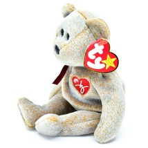 1999 TY Beanie Baby Signature Bear Embroidered Heart Beanbag Plush Toy Doll image 2