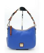 NWT Dooney & Bourke Blue Pebble Grain Leather Kiley Zip Top Hobo Shoulde... - $148.00
